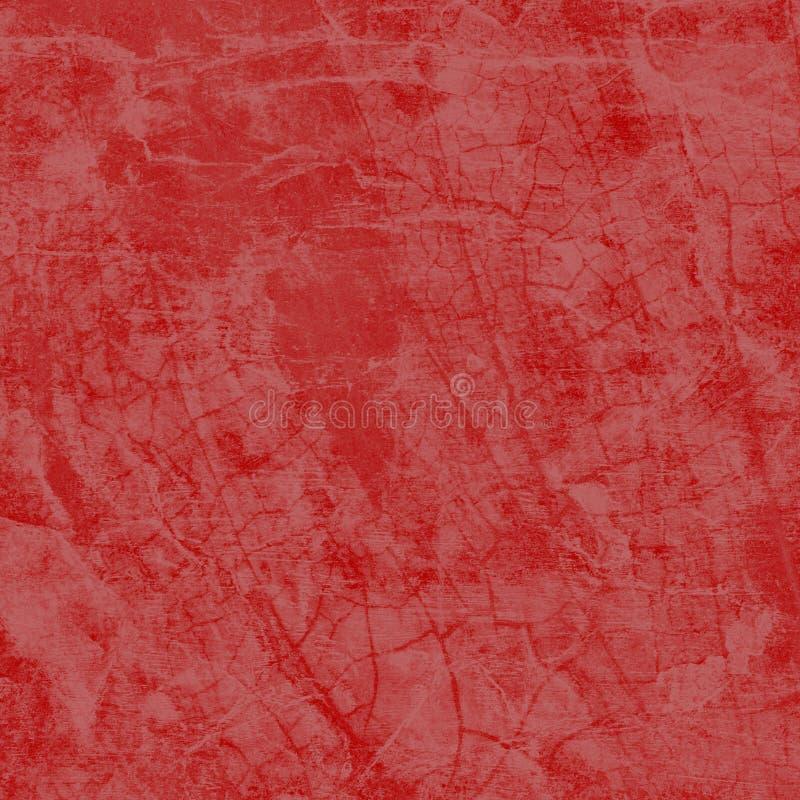 Förstörd röd bakgrund med krackad grunt textur, sprickor och skrynklig julpapper, texturerad bakgrund royaltyfri foto