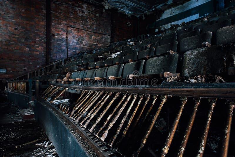 Förstörda platser - den övergav Paramount teatern - Youngstown, Ohio arkivbild