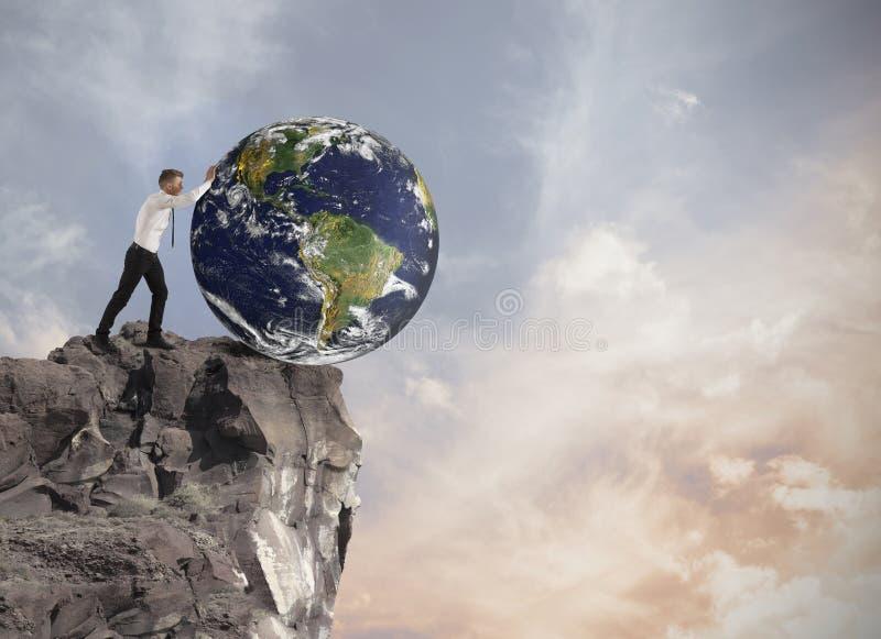 Förstörelse av världen arkivfoto