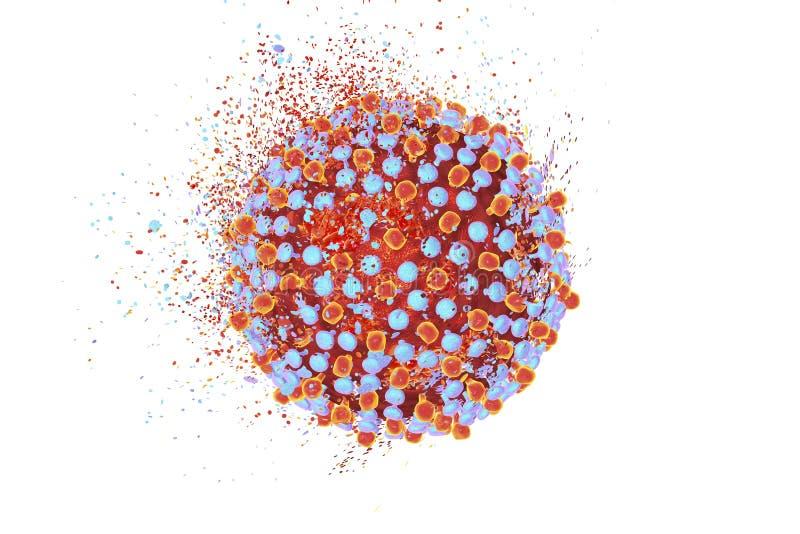 Förstörelse av viruset för hepatit C vektor illustrationer