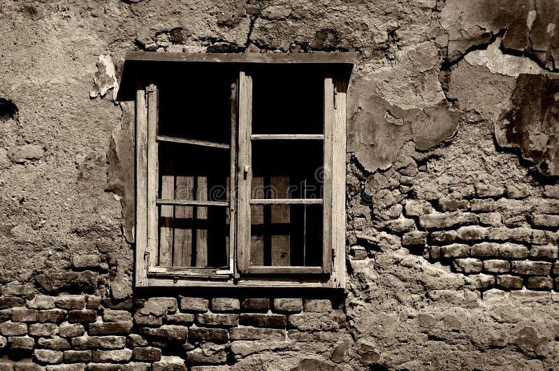 Förstört Tonat Kriga Fönstret Arkivbild