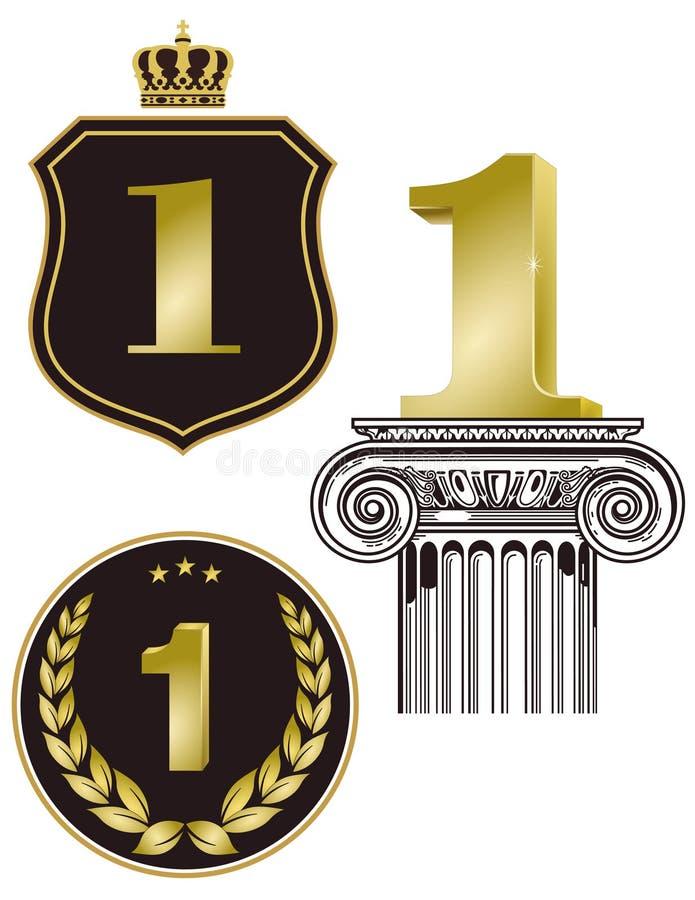 Först bända tecken royaltyfri illustrationer