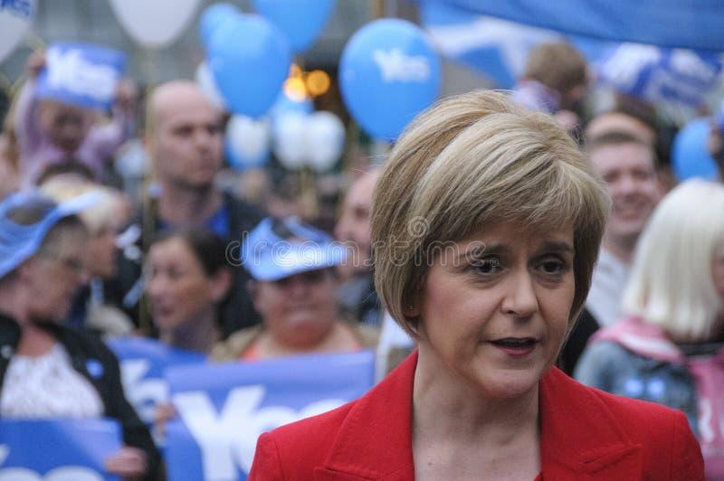 Först minister Nicola Sturgeon 2014 fotografering för bildbyråer