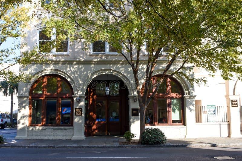 Första bank för medborgare` s i charlestonen, SC royaltyfri foto