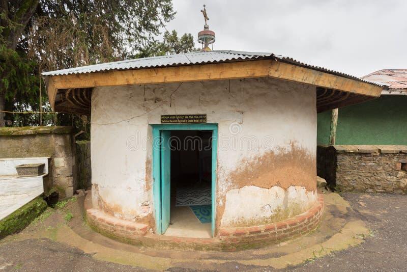 Första forntida etiopiska ortodoxa kyrka royaltyfria bilder