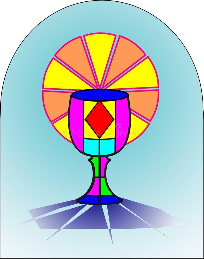 första helgedom för comunion stock illustrationer