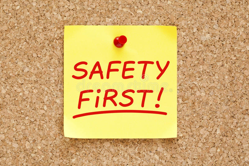 Download Första Klibbiga Anmärkning För Säkerhet Arkivfoto - Bild av anvisningar, reglering: 30604418