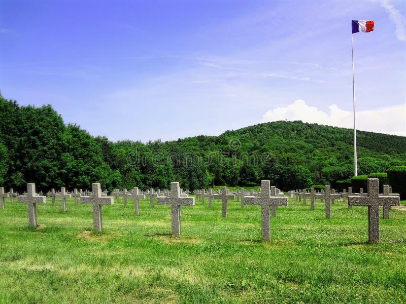 Första krigkyrkogård royaltyfri foto