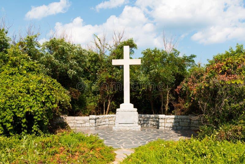 Första landningsplats för minnes- markering av engelska nybyggare i Virginia royaltyfri fotografi