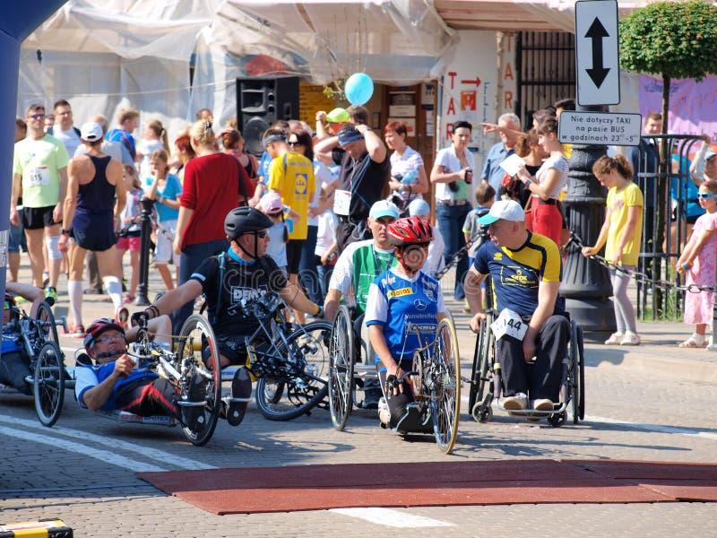 Första Lublin maraton, Lublin, Polen royaltyfri foto