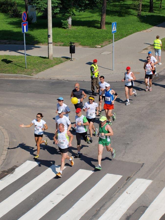 Första Lublin maraton, Lublin, Polen arkivfoton