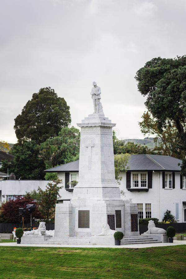 Första minnesmärke för cenotafium för världskrig royaltyfria bilder