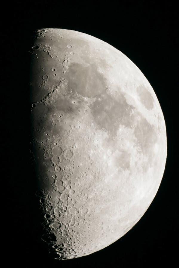 första moonfjärdedel royaltyfria foton