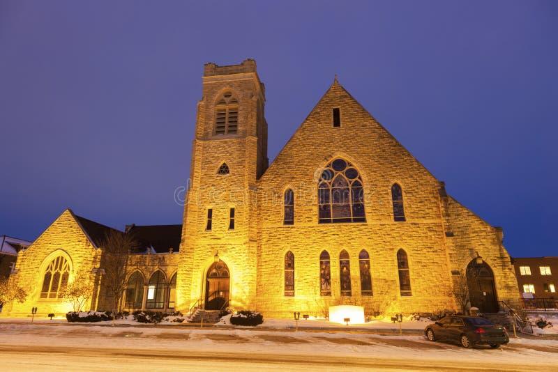 Första presbyterianska kyrkan i Topeka royaltyfria foton