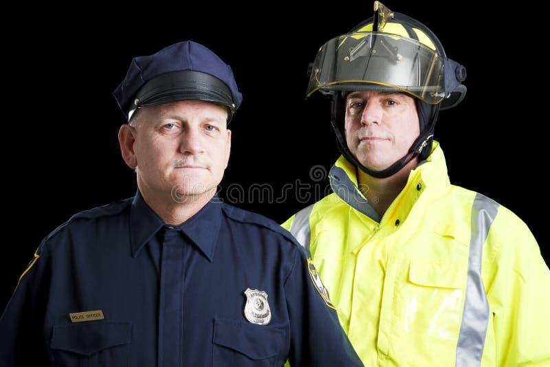 första responders royaltyfria foton