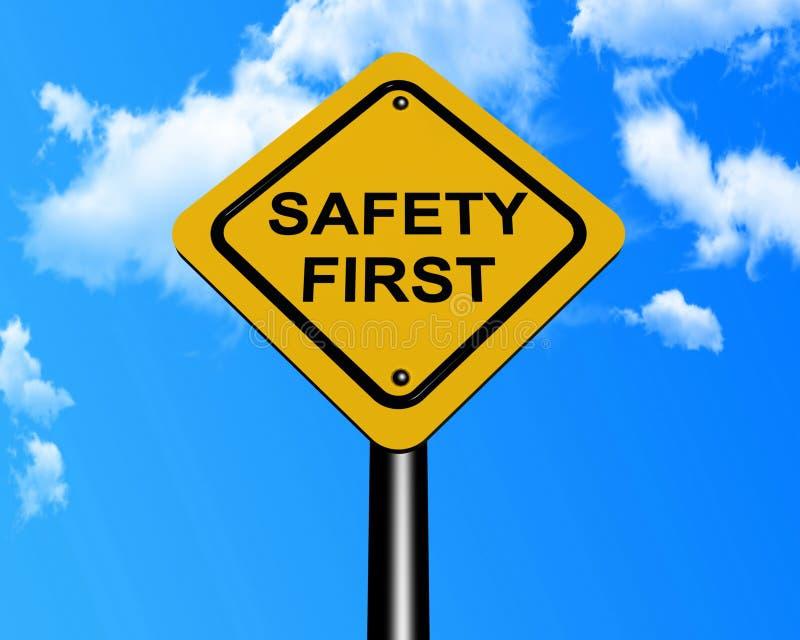 första säkerhetstecken stock illustrationer