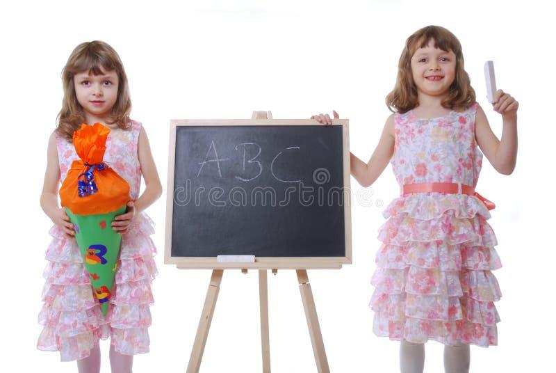 första skola för dag arkivfoto