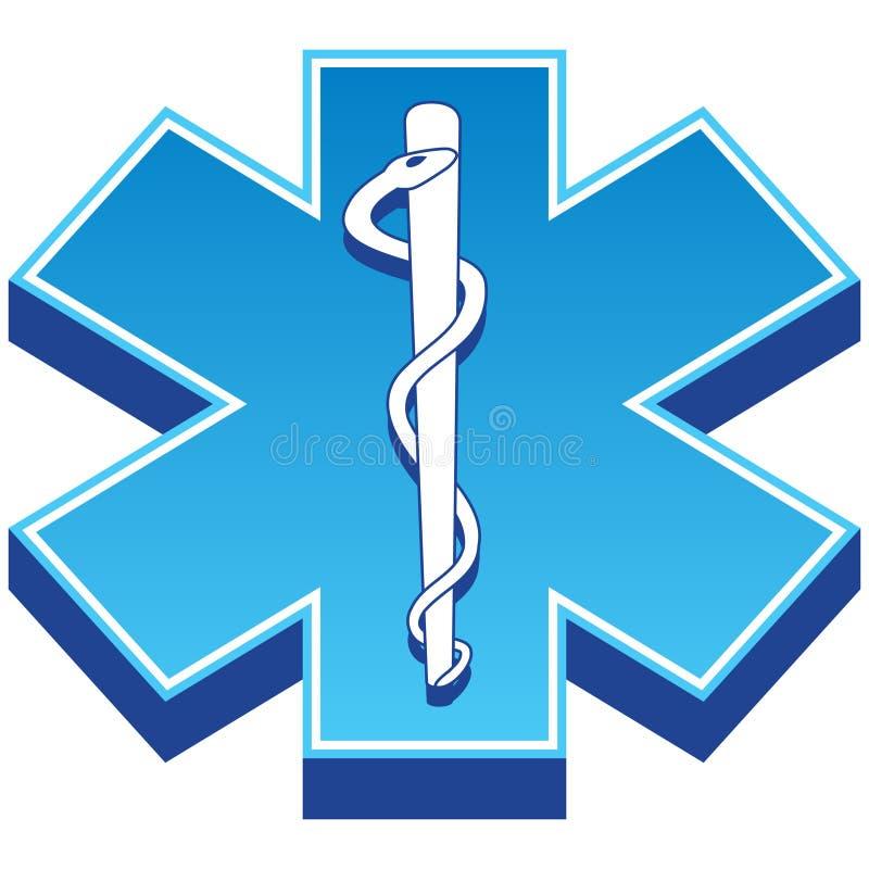 första symbol för hjälpmedel 3d royaltyfri illustrationer