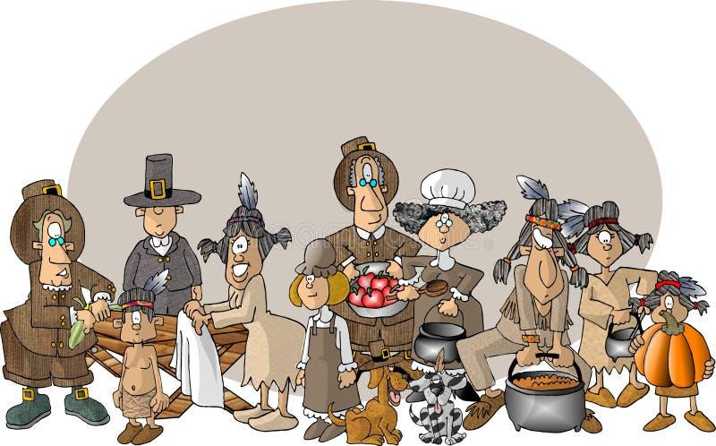 Download Första tacksägelse stock illustrationer. Illustration av vallfärda - 30409