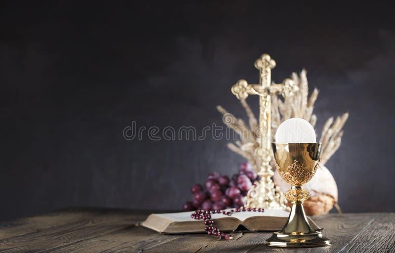 Första tema för helig nattvardsgång Ställe för typografi eller text royaltyfri fotografi