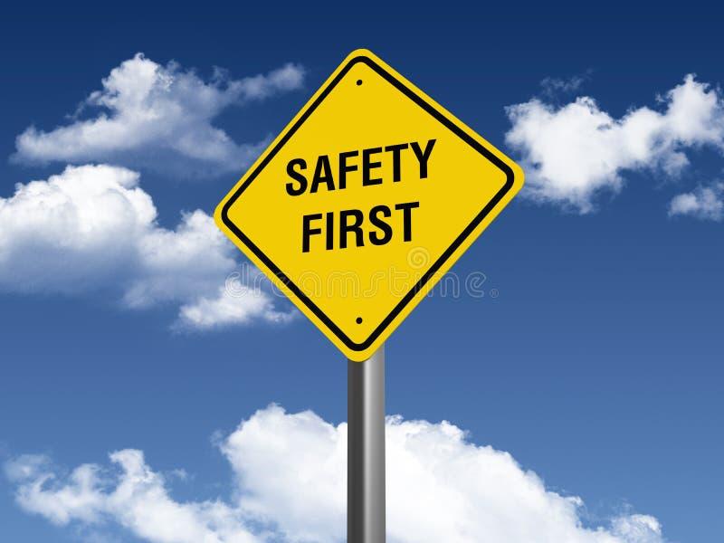 Första vägmärke för säkerhet royaltyfri illustrationer