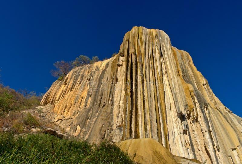 Förstenade vattenfall royaltyfri bild