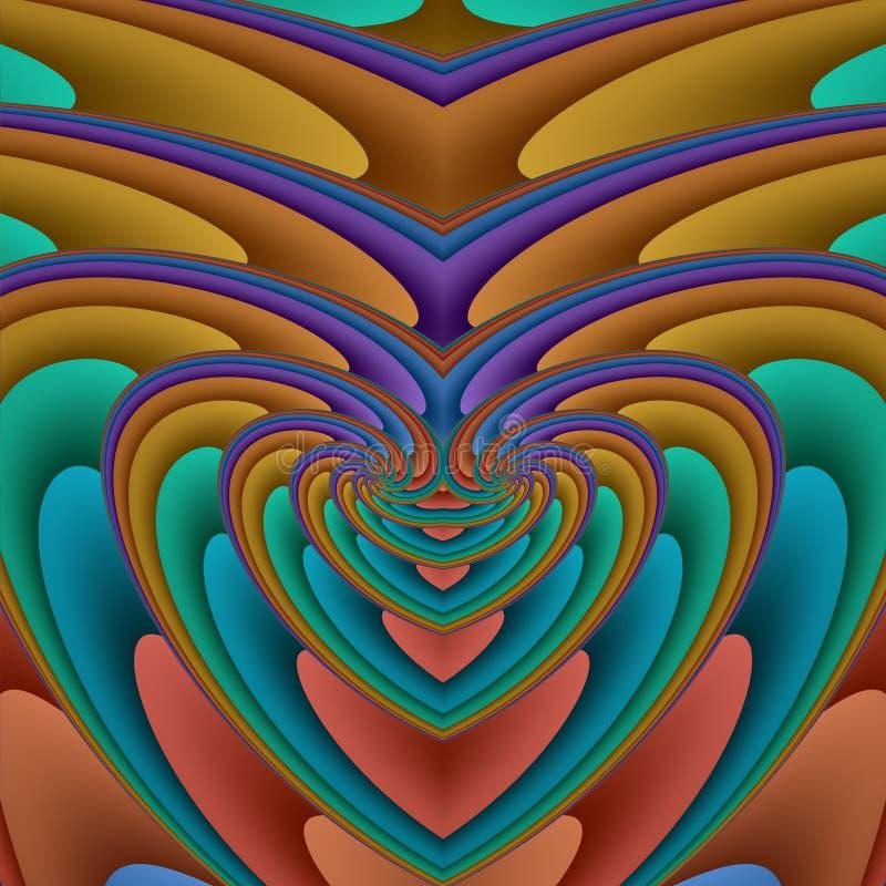 förstorande hjärtaspiral vektor illustrationer