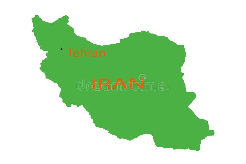 Förstorande Iran på plan för översiktsstiftställe stock illustrationer