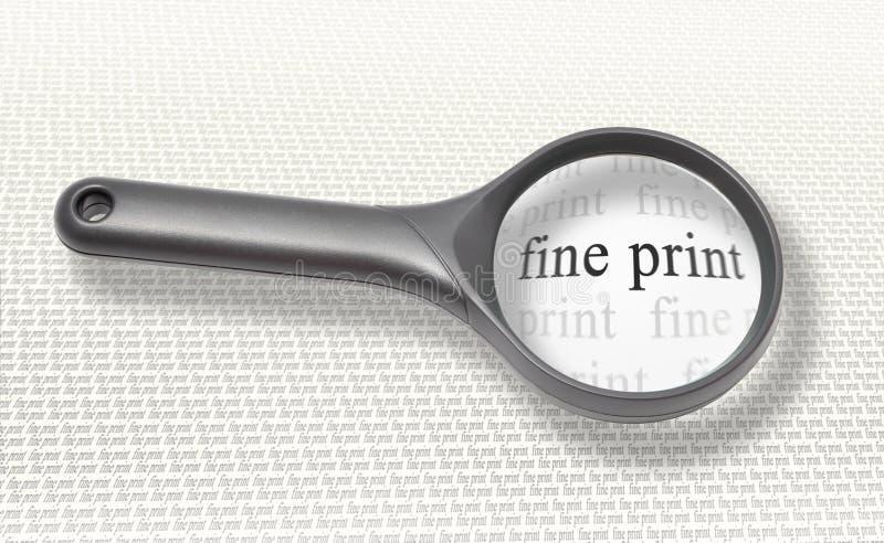 förstorande tryck för fint exponeringsglas royaltyfria bilder