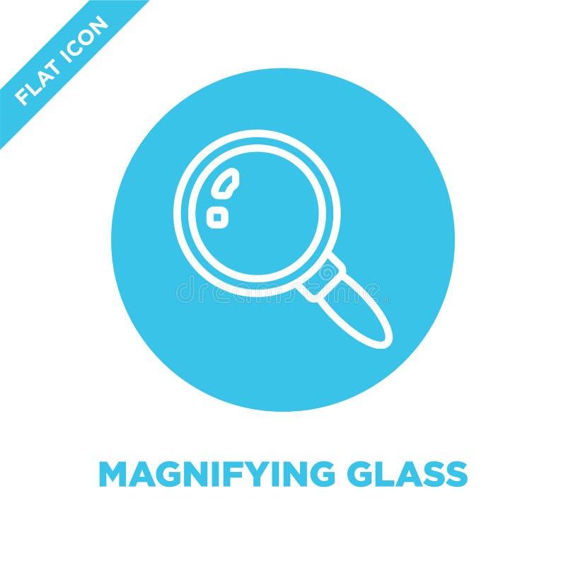 förstoringsglassymbolsvektor från brevpappersamling Tunn linje illustration för vektor för förstoringsglasöversiktssymbol linjärt vektor illustrationer