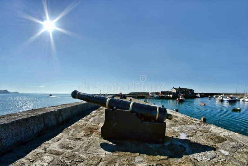 Försvar av hamnen arkivfoto