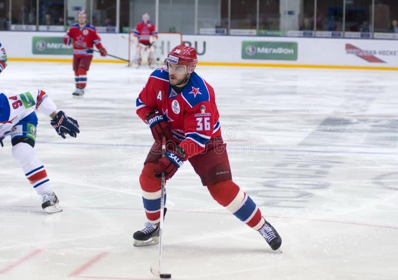 Försvarare av CSKA RYLOV Yakov arkivfoto