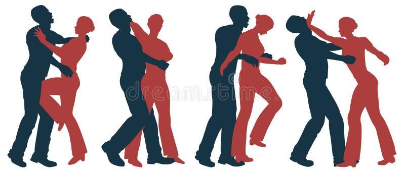 försvarkvinnligsjälv vektor illustrationer