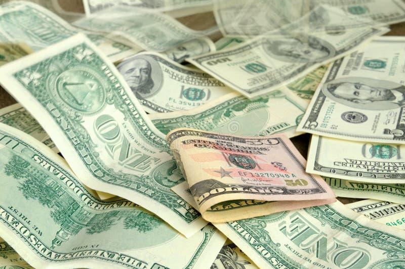 försvinnande pengar royaltyfri bild