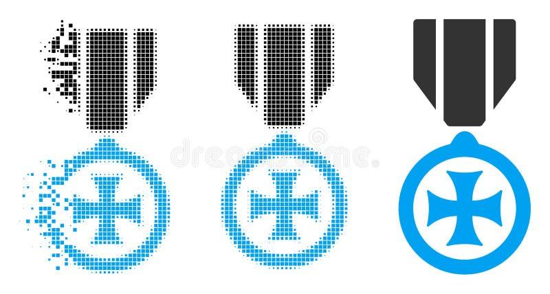 Försvinnande symbol Pixelated rastrerad för maltesiskt kors vektor illustrationer
