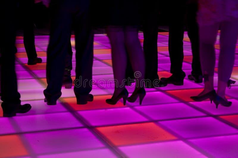 fört färgrikt dansgolv royaltyfria foton