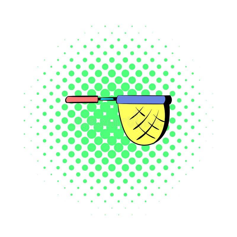 Förtjäna för att fiska symbolen, i komiker utformar royaltyfri illustrationer