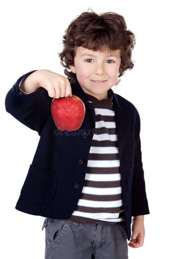 förtjusande äpplebarn ett arkivbilder