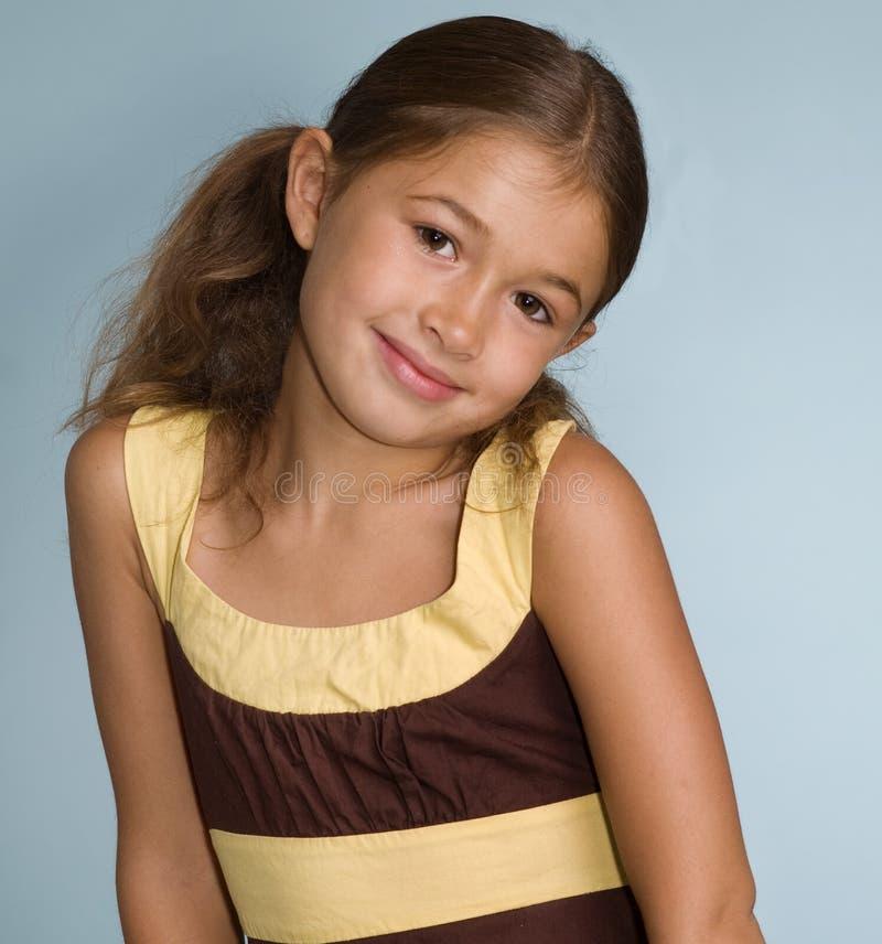 förtjusande flickalatino little royaltyfri foto