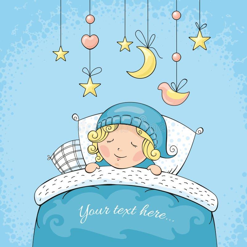 Förtjusande sova barn stock illustrationer
