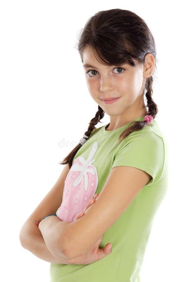 förtjusande tillfällig flicka royaltyfri bild