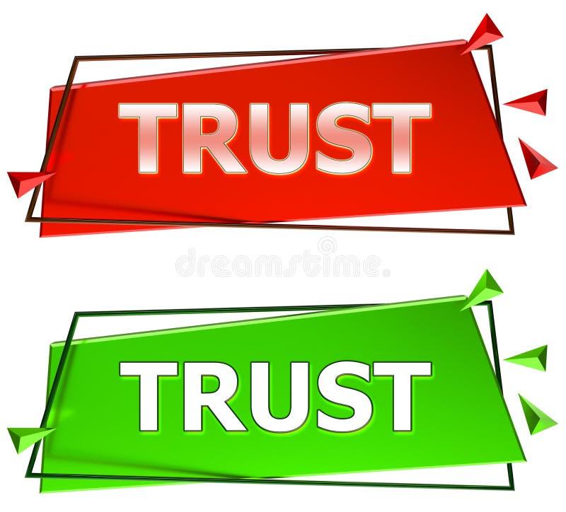 Förtroendetecken stock illustrationer