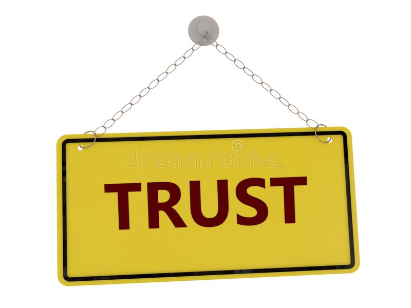 Förtroendetecken vektor illustrationer