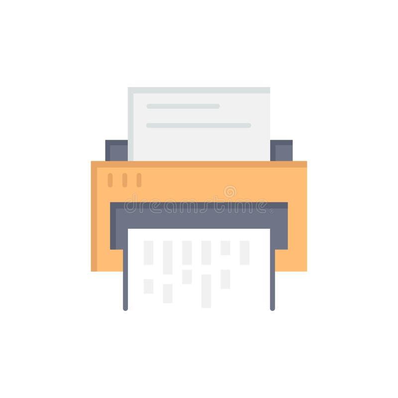 Förtroligt data, borttagnings, dokument, mapp, information, plan färgsymbol för dokumentförstörare Mall för vektorsymbolsbaner royaltyfri illustrationer