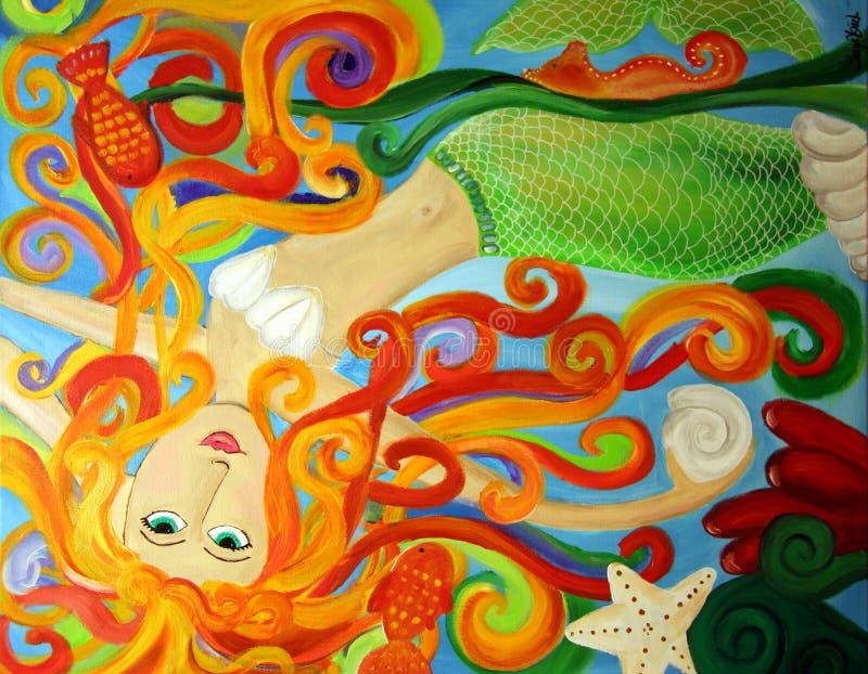förtrollad mermaid stock illustrationer
