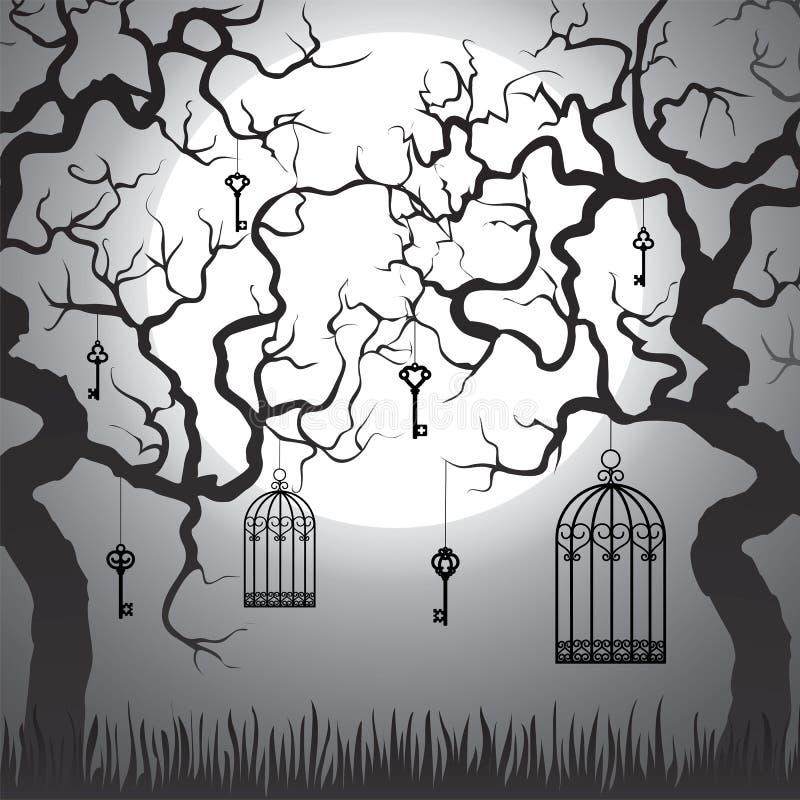 Förtrollad skog vektor illustrationer