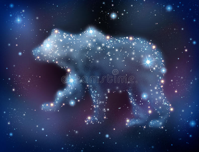 Förutsägelser för björnmarknad vektor illustrationer