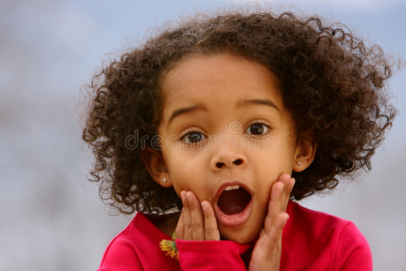 förvåna för barn royaltyfri foto