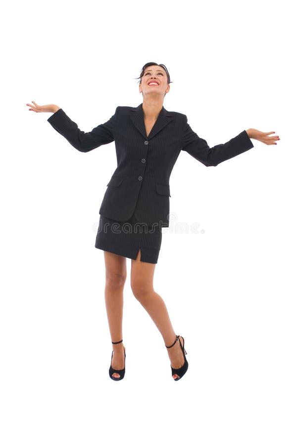 förvånad affärskvinna royaltyfri bild