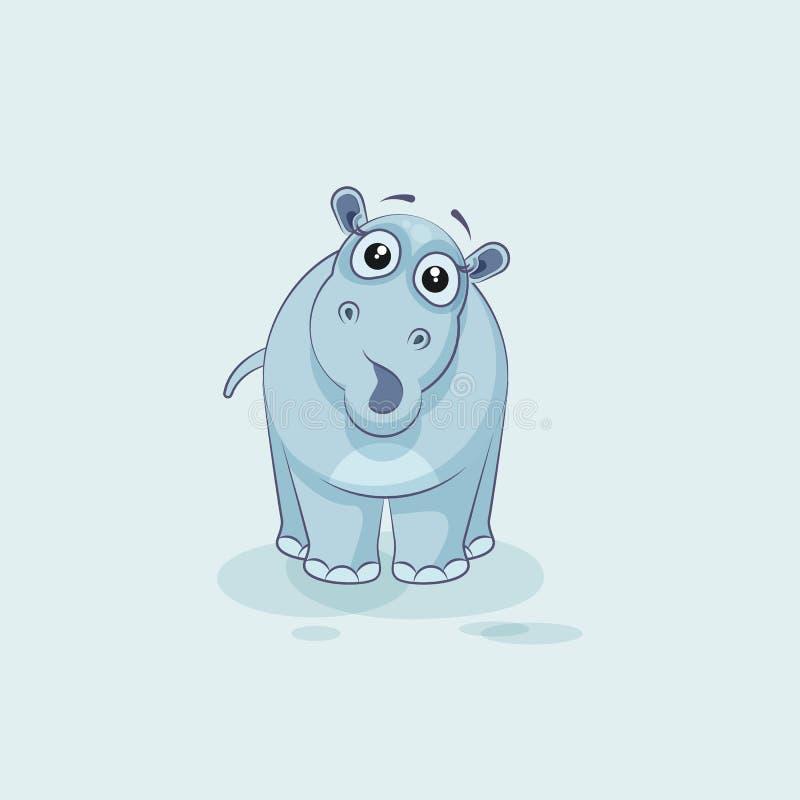 Download Förvånad Flodhäst För Emoji Teckentecknad Film Vektor Illustrationer - Illustration av idé, smileys: 78727263